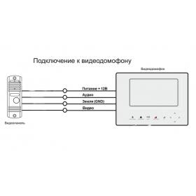 Монтаж комплекта видеодомофона